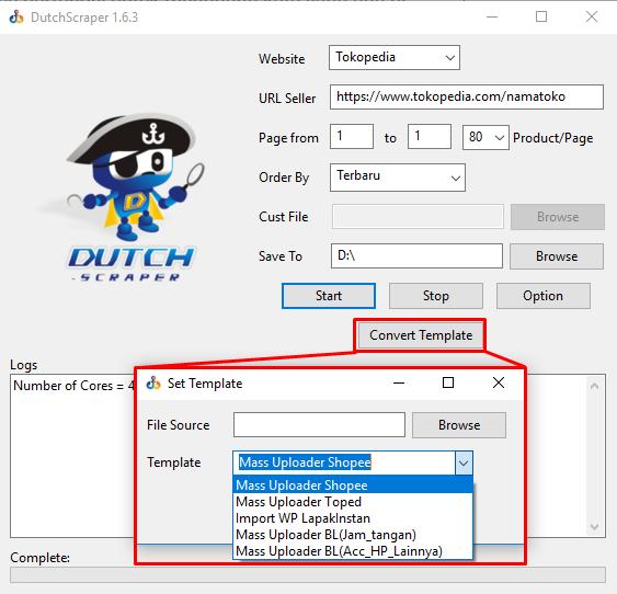 software dropship dutchbot - converter mass upload