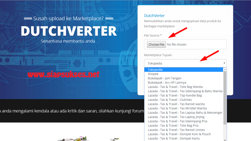 tools dropship : Convert data produk