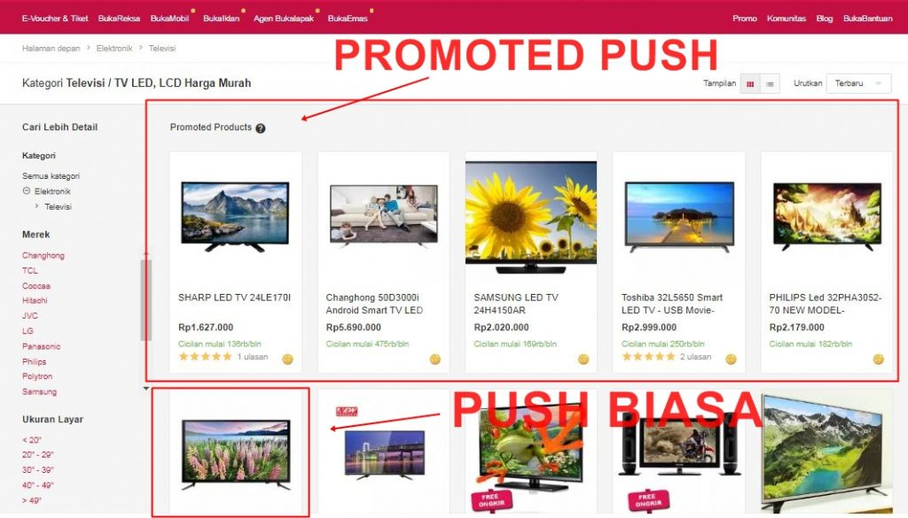 promoted push dan push bukalapak