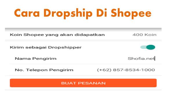 Cara Dripship Di Shopee