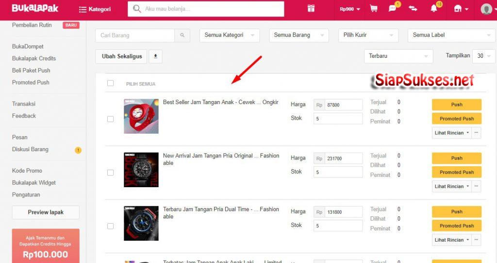 cara upload produk ke bukalapak - siap jualan
