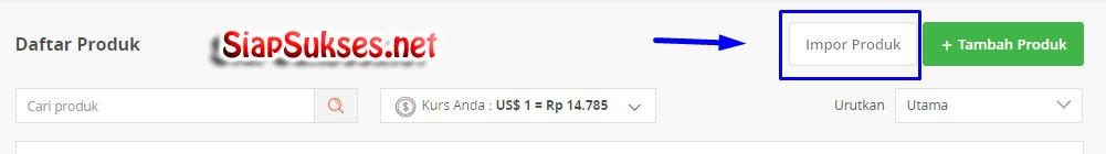 cara upload produk ke tokopedia - download template