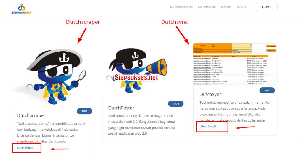 daftar dutchbot : pilih aplikasi