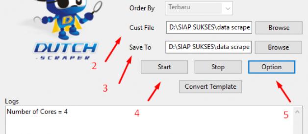 scrape custom link