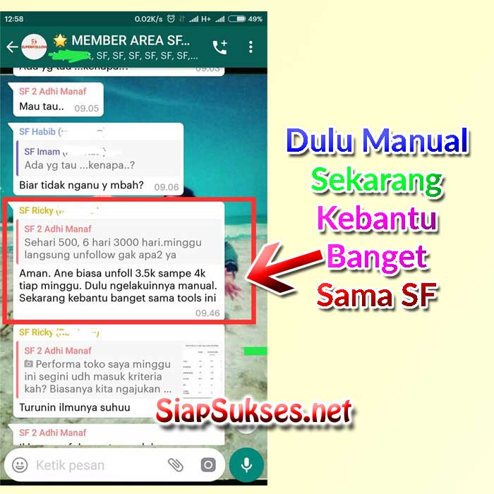testimoni super auto follow shopee