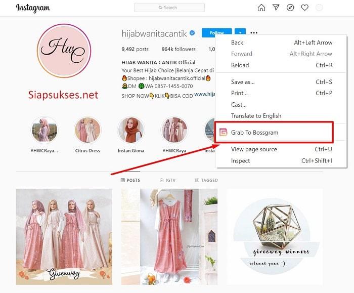 cara scrape instagram sope bl toped - instagram